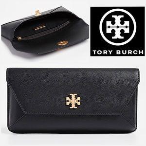 Tory Burch Black Kira Envelope Clutch EUC